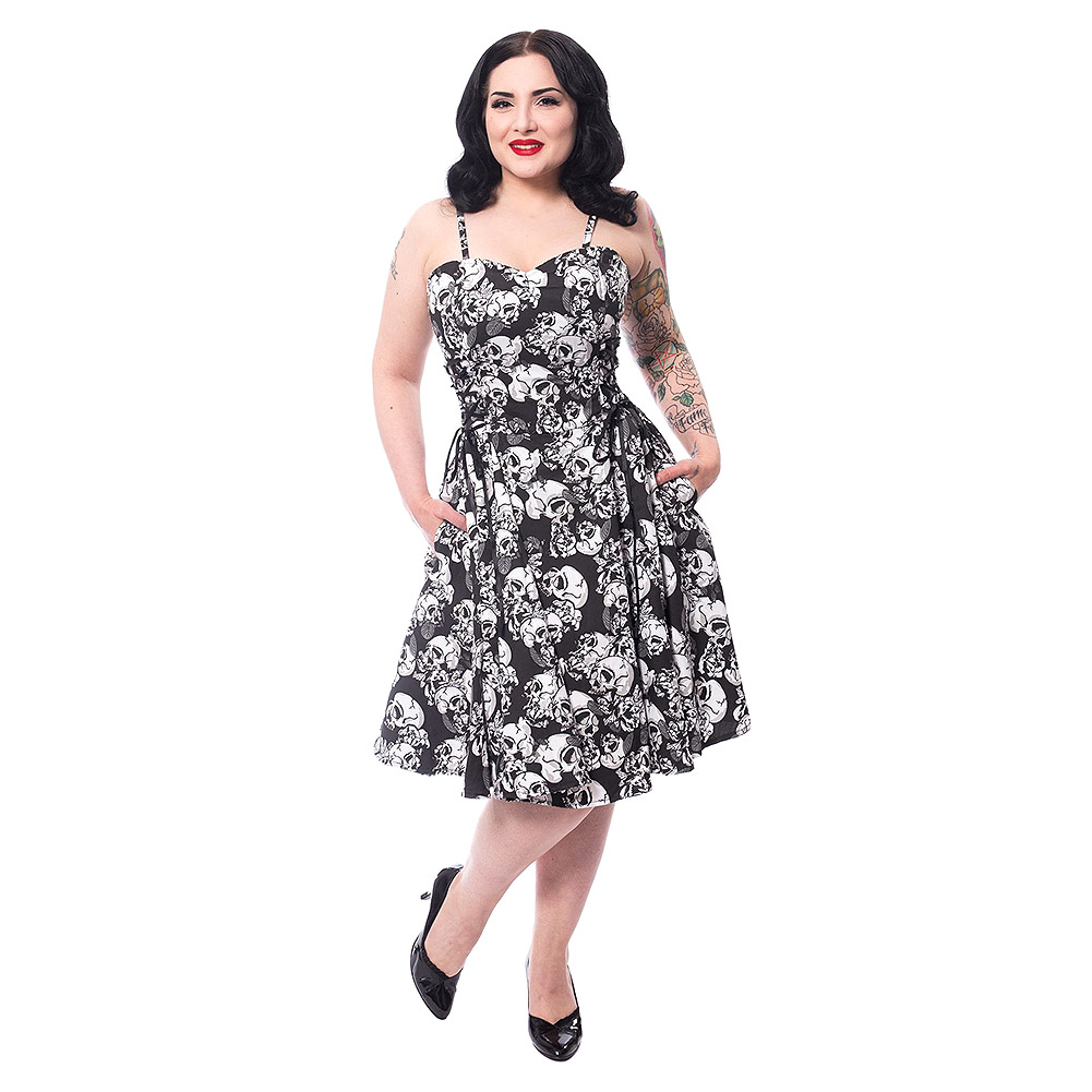 Poizen Industries Veena Dress (Black/White)