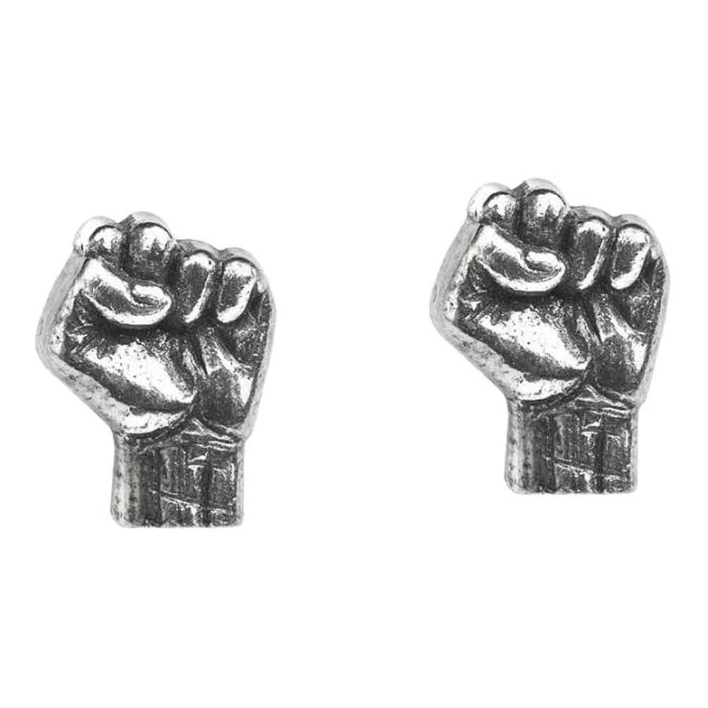 Alchemy Rocks Rage Against The Machine Fist Stud Ohrringe (Pewter - Hartzinn)