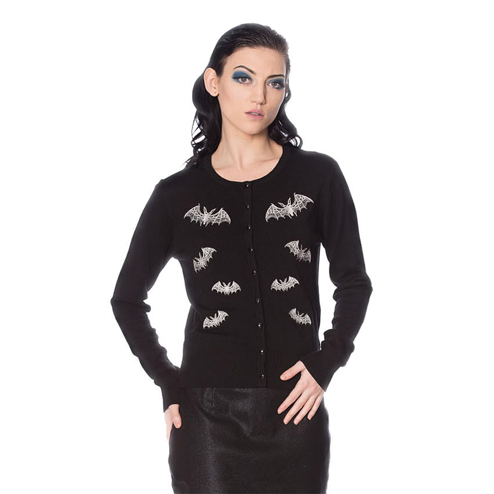 Banned Lace Bat Cardigan (Black)
