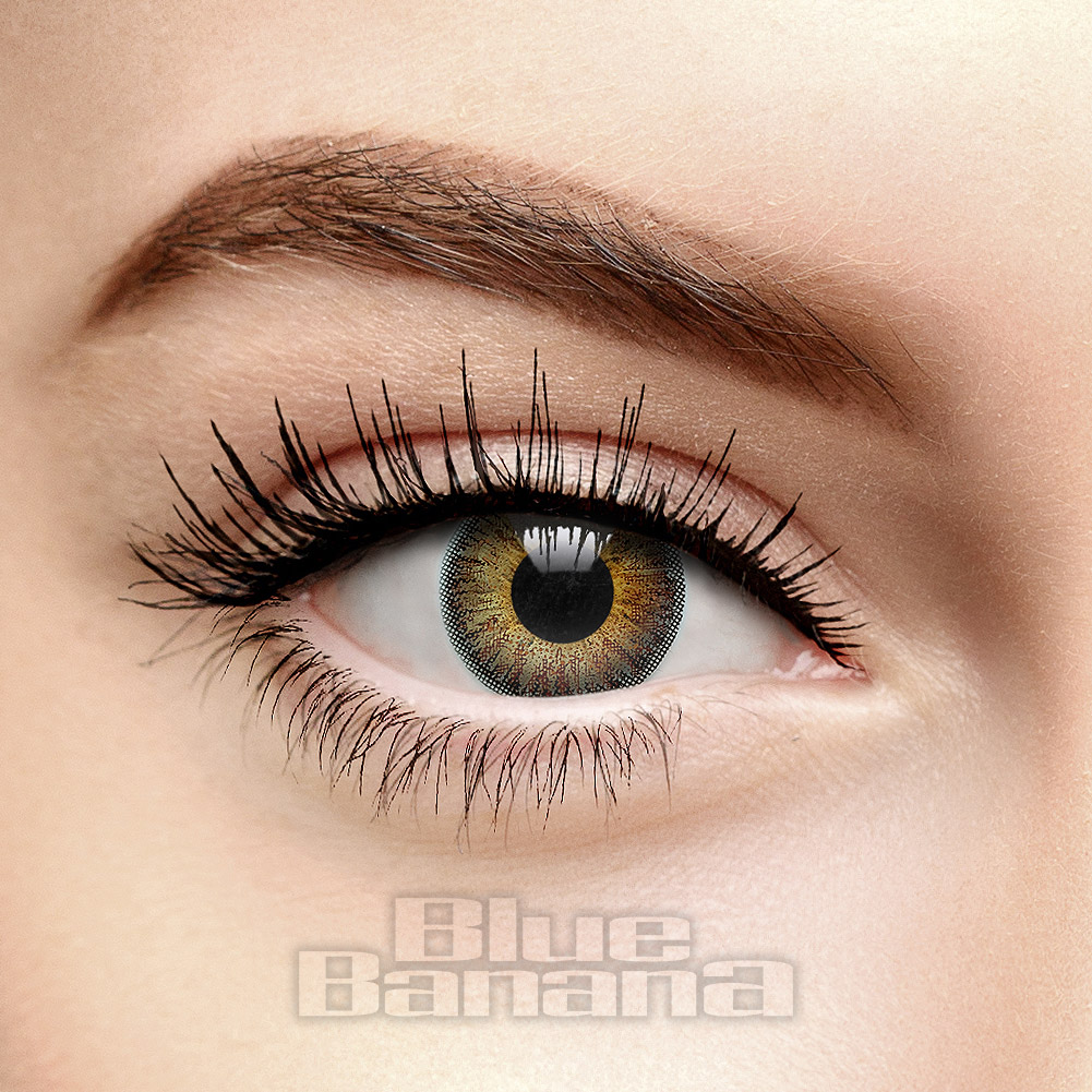 Natural Blend 1 Day 10 Pack Coloured Prescription Contact Lenses (Hazel)
