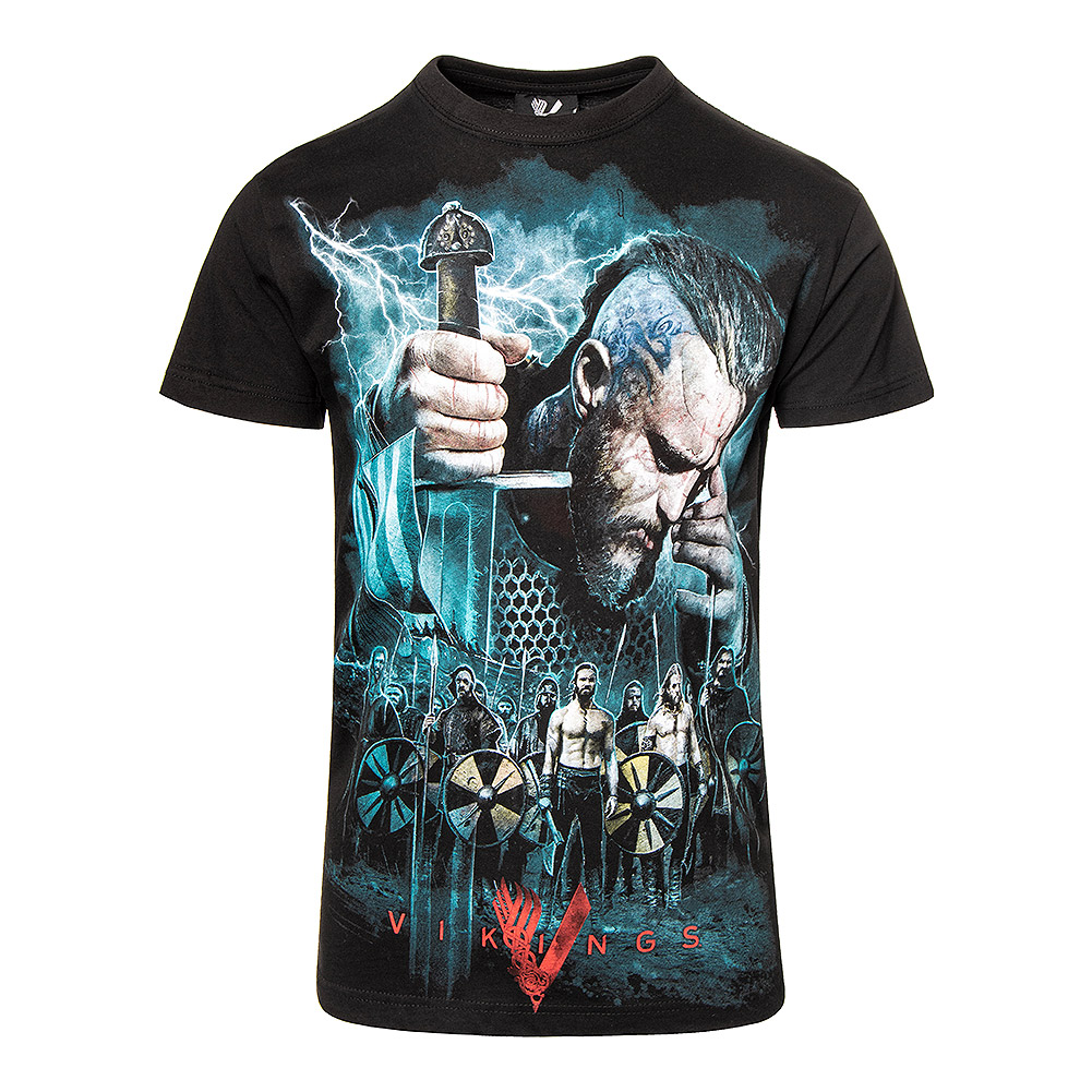 Spiral Direct Vikings Battle T Shirt (Schwarz)
