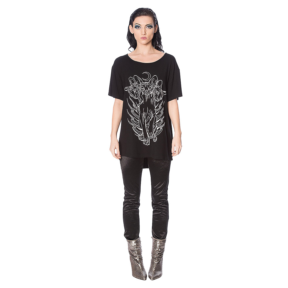Banned Cerberus Kitty Cat Top (Black)