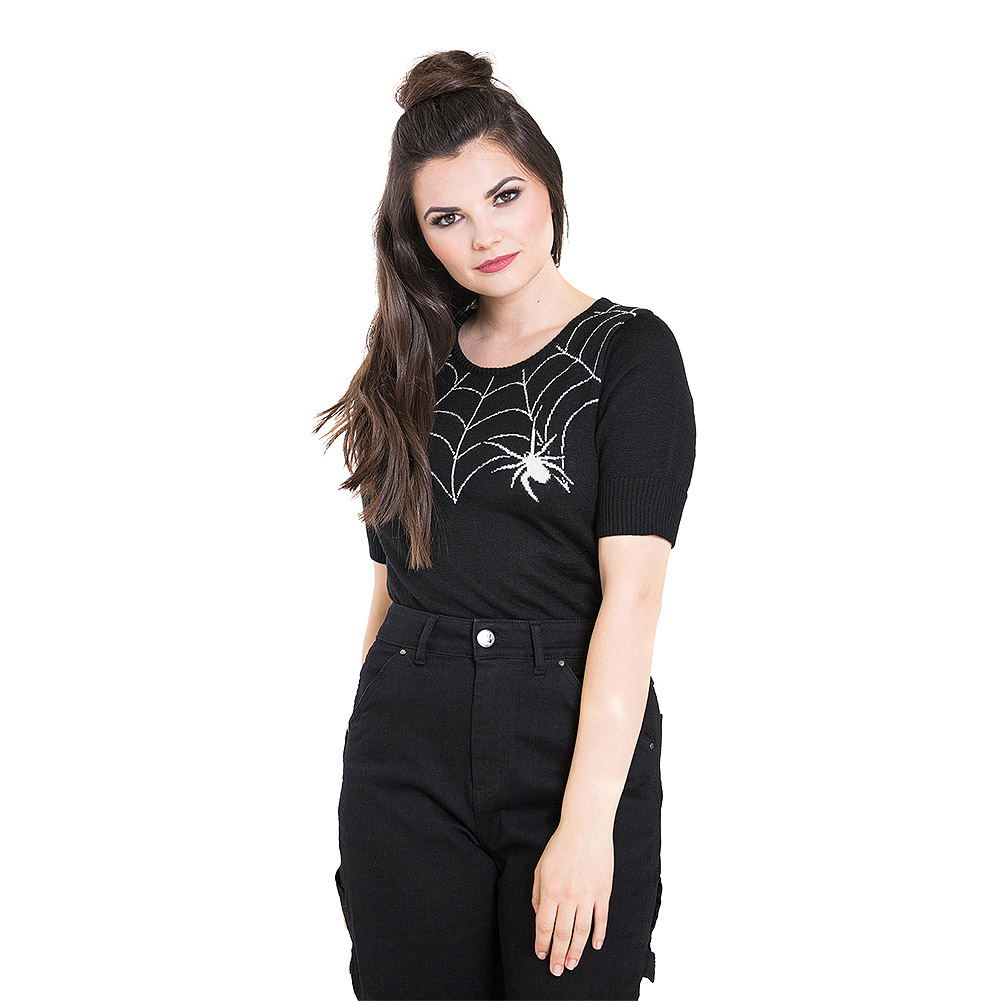 Hell Bunny Widow Jumper (Black)