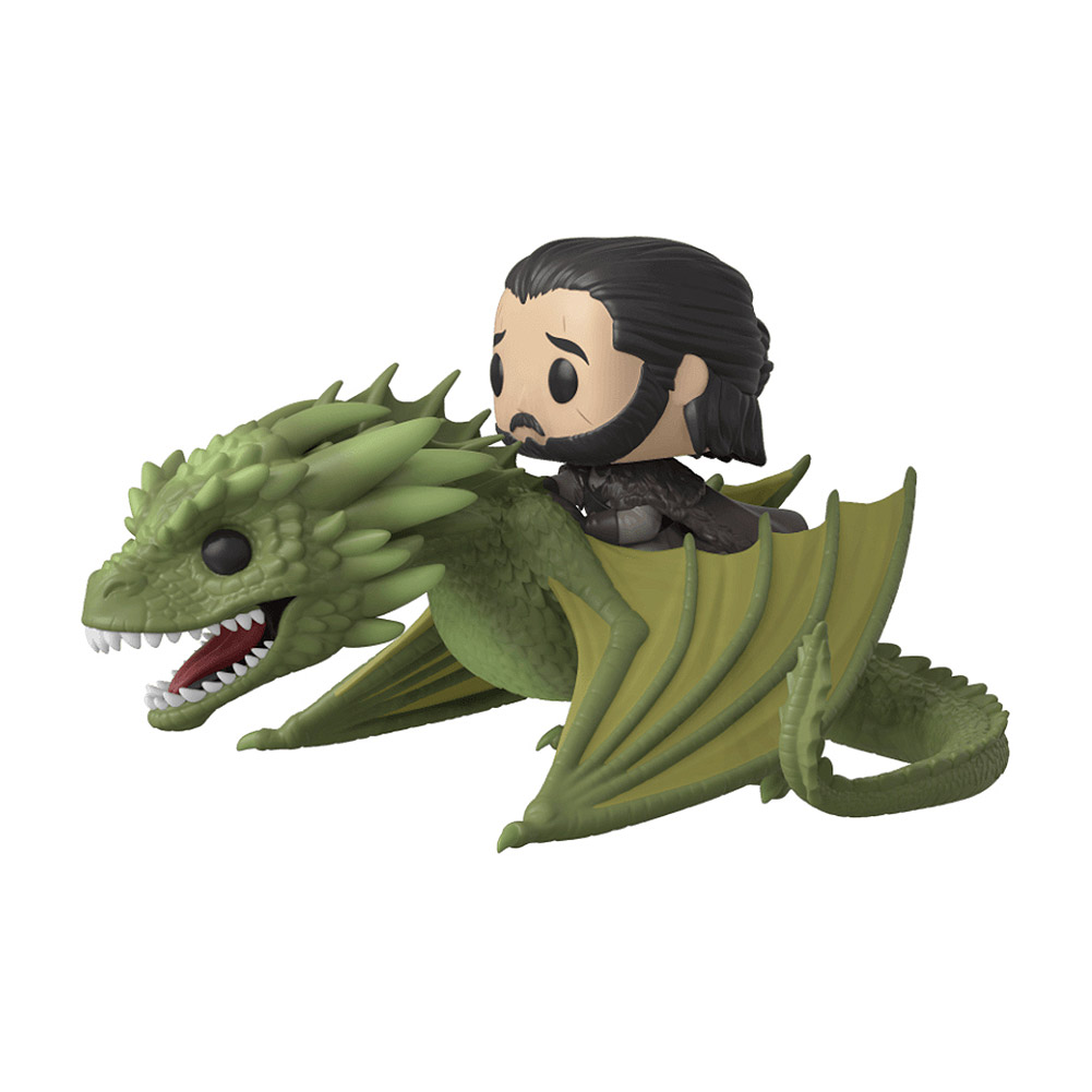Funko Pop! Game Of Thrones Jon Riding Rhaegal Vinyl Figur