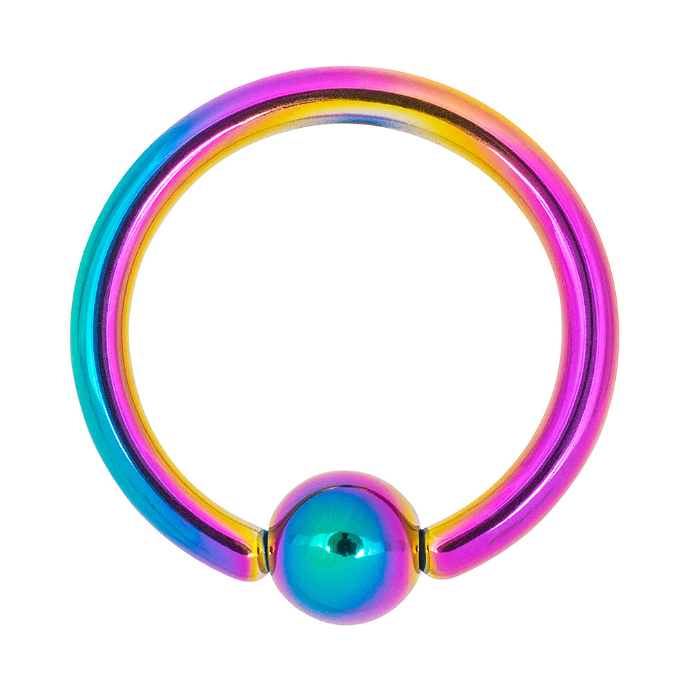 Blue Banana Coloured Titanium 1.2mm BCR (Multicoloured)