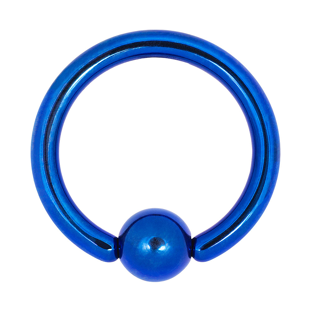 Blue Banana Coloured Titanium 1.6mm BCR (Dark Blue)
