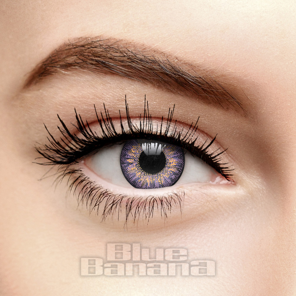 Mystic Tri Tone 30 Day Coloured Contact Lenses (Violet)