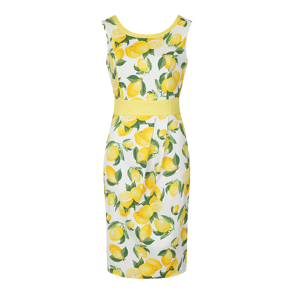 Banned Lemon Pencil Dress (White)