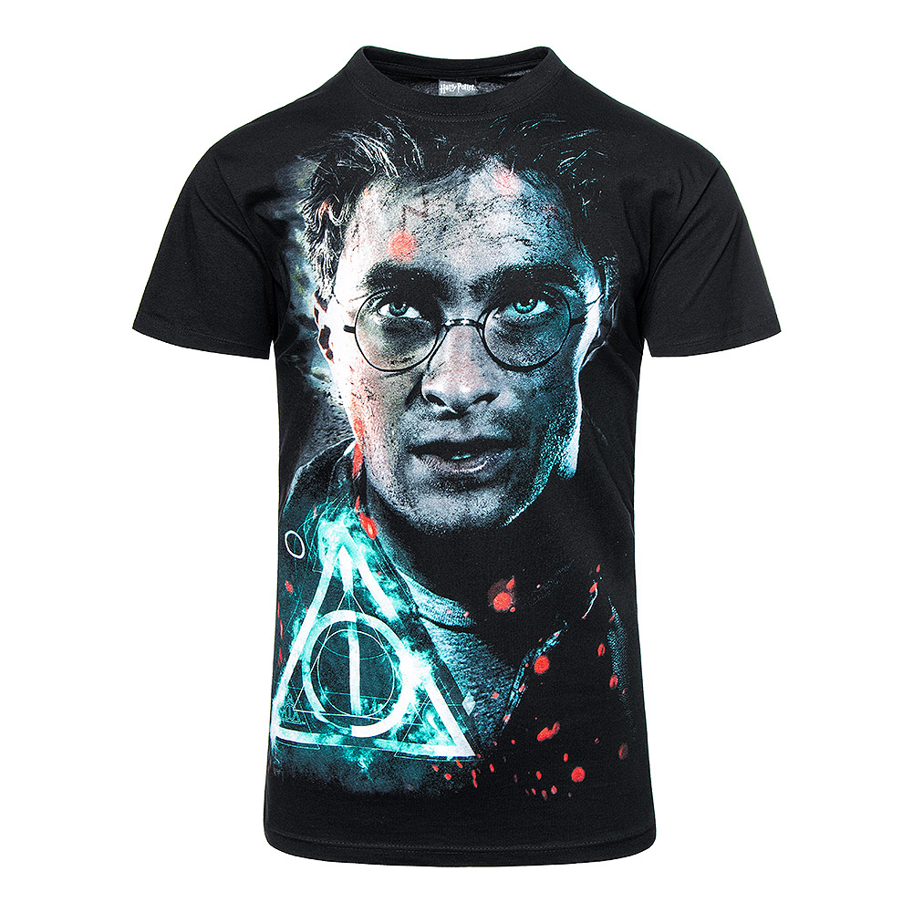 Spiral Direct Harry Potter Deathly Hallows T Shirt (Black)