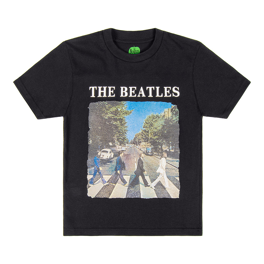 Official The Beatles Abbey Road Kids T Shirt (Black)
