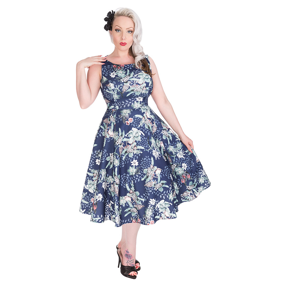 H&R Woodland Bird Dress (Blue)