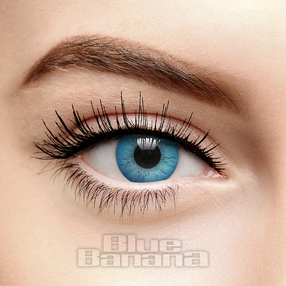Enhance Full Tint 30 Day Coloured Contact Lenses (Blue)