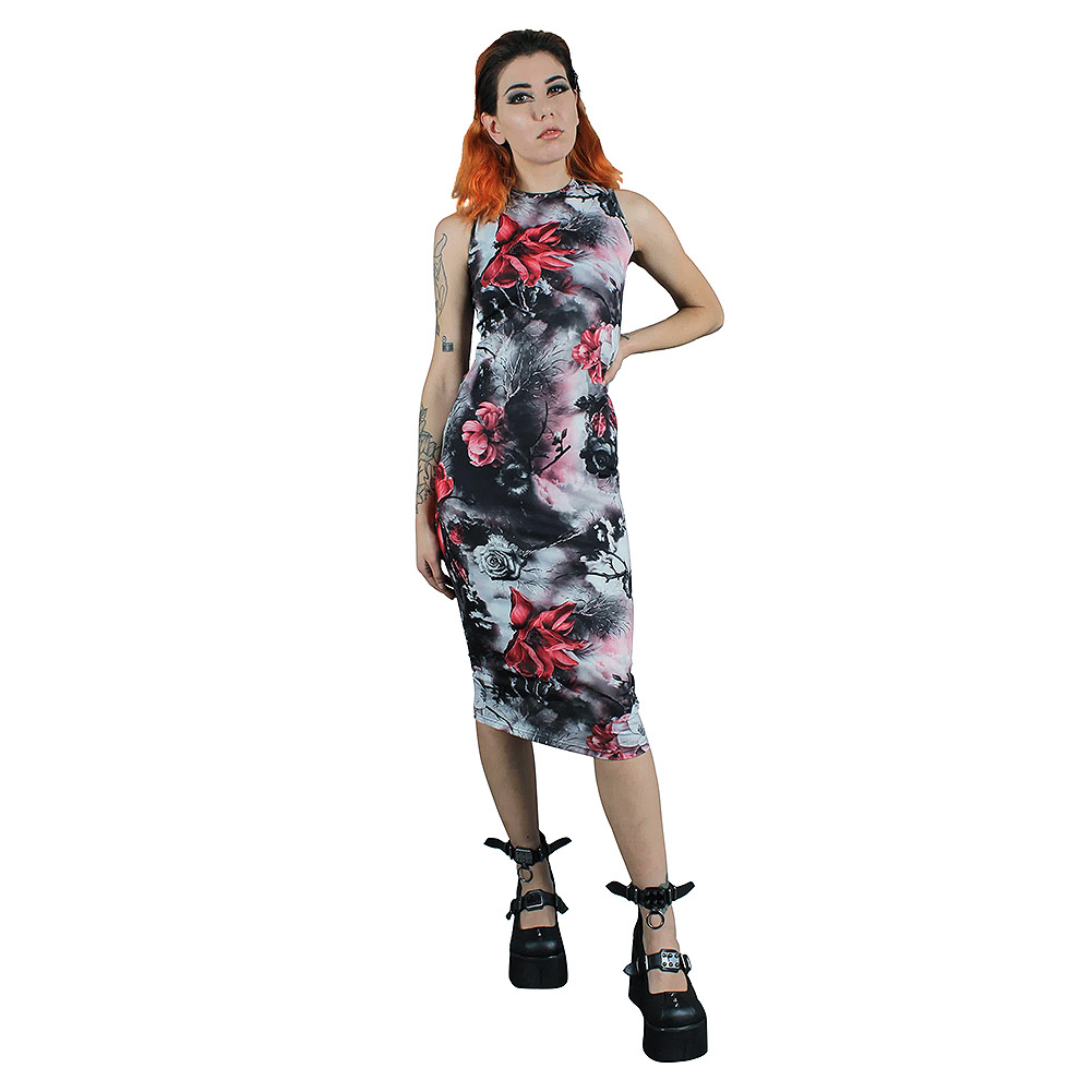 Jawbreaker Roses Dress (Black)