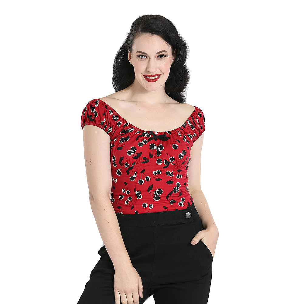 Hell Bunny Alison Top (Red)