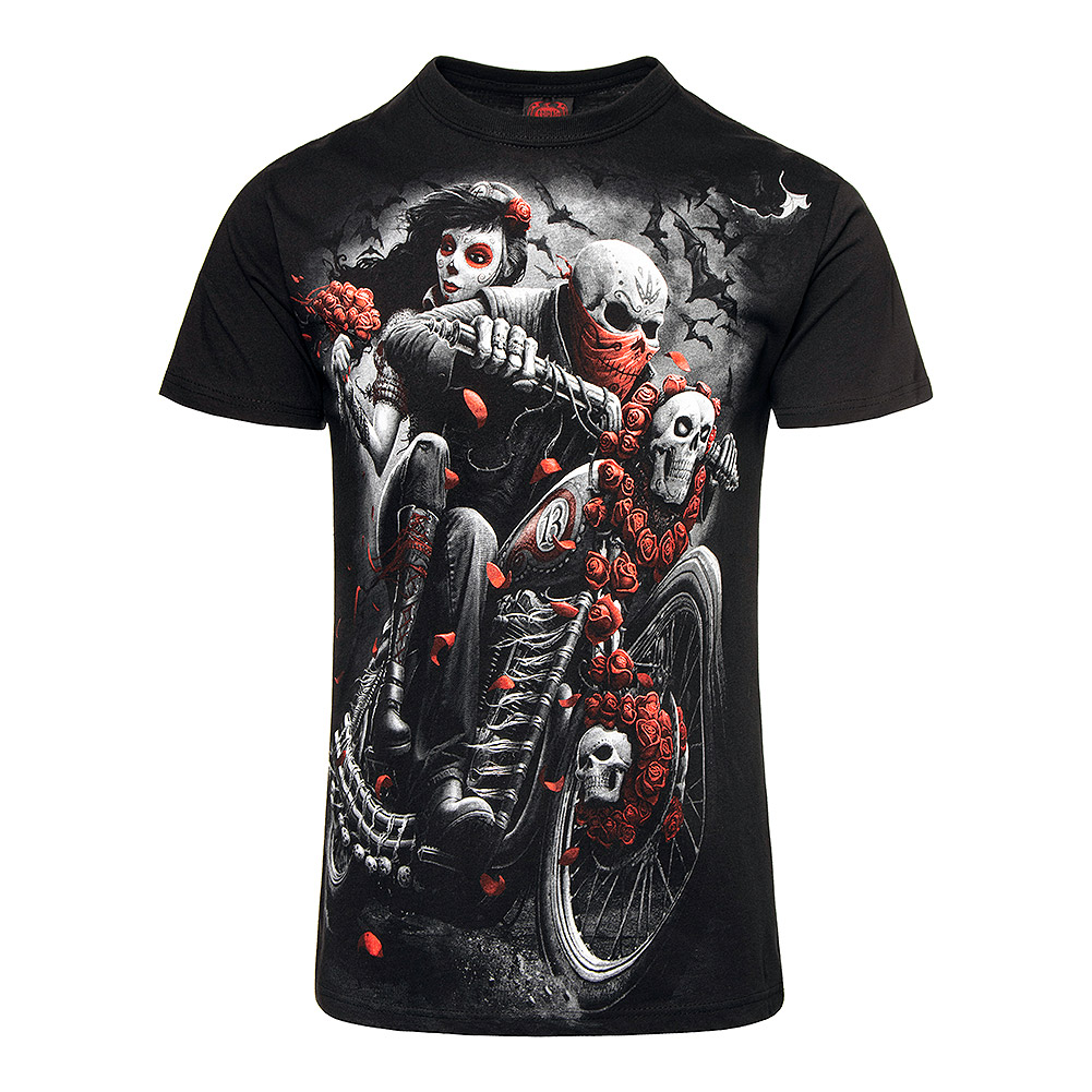 Spiral Direct Day Of The Dead Biker T Shirt (Black)