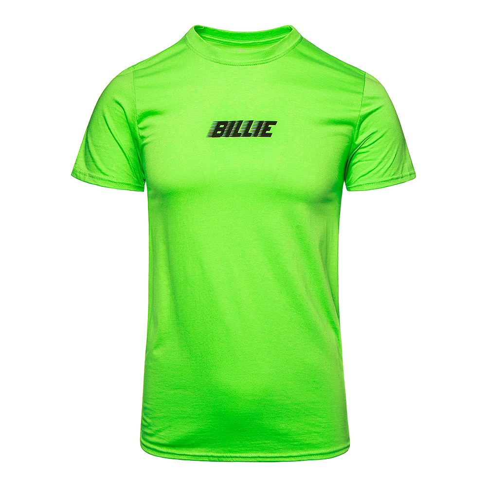 Official Billie Eilish Racer Logo & BLOHSH T Shirt (Lime Green)