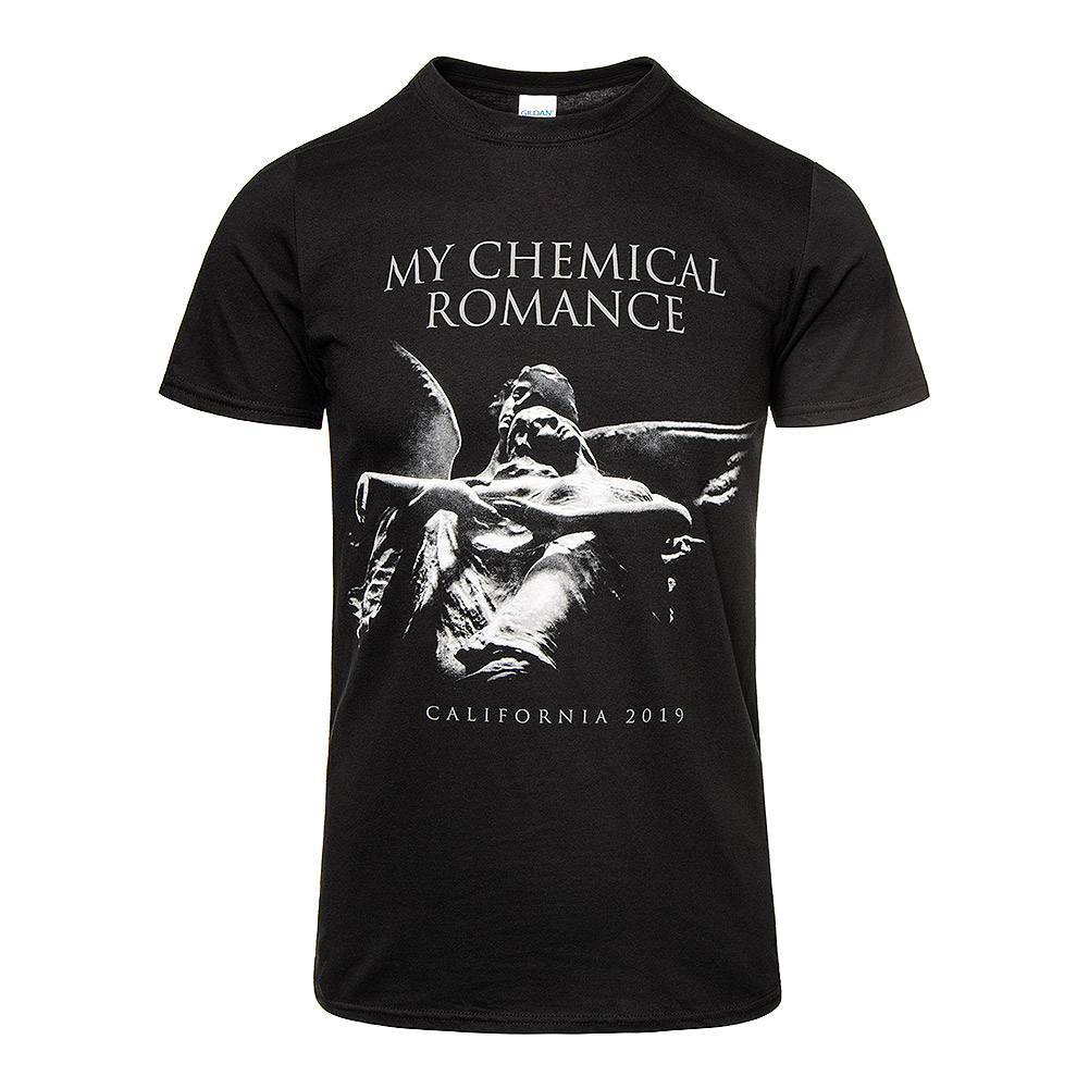 My Chemical Romance Camiseta Oficial Con Estampado Angel (Negro)