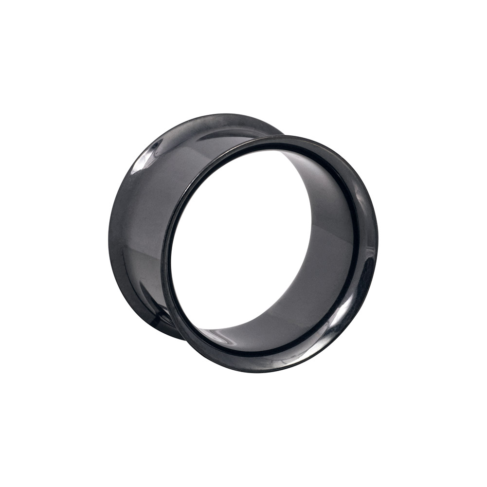 Blue Banana Surgical Steel 2 - 38mm Double Flared Tunnel (Black)