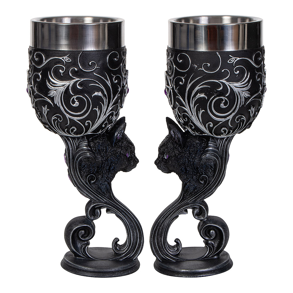 Nemesis Now Hex Of Heart Goblets 18.5cm (Set Of 2)