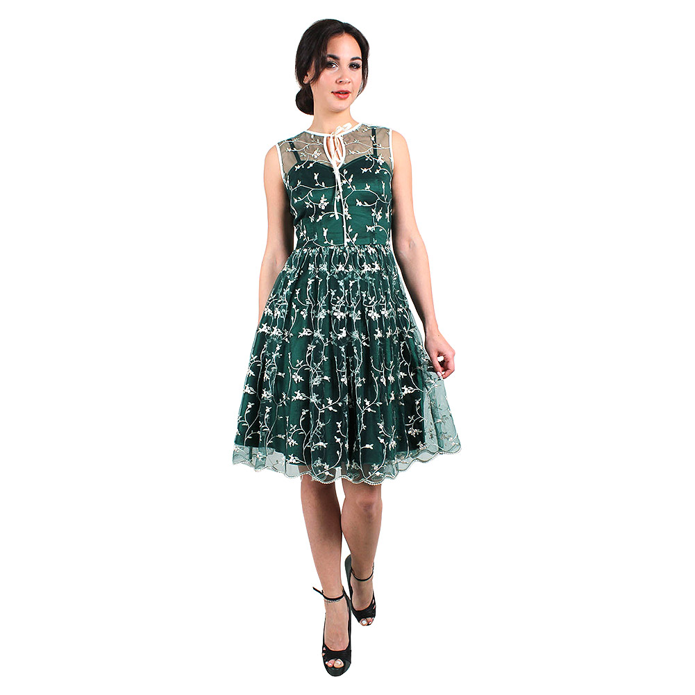 Voodoo Vixen Tallulah Tulle Dress (Green)