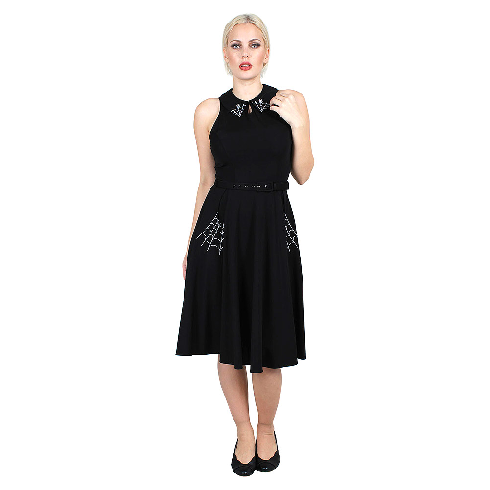 Voodoo Vixen Charlie Spider Web Dress (Black)