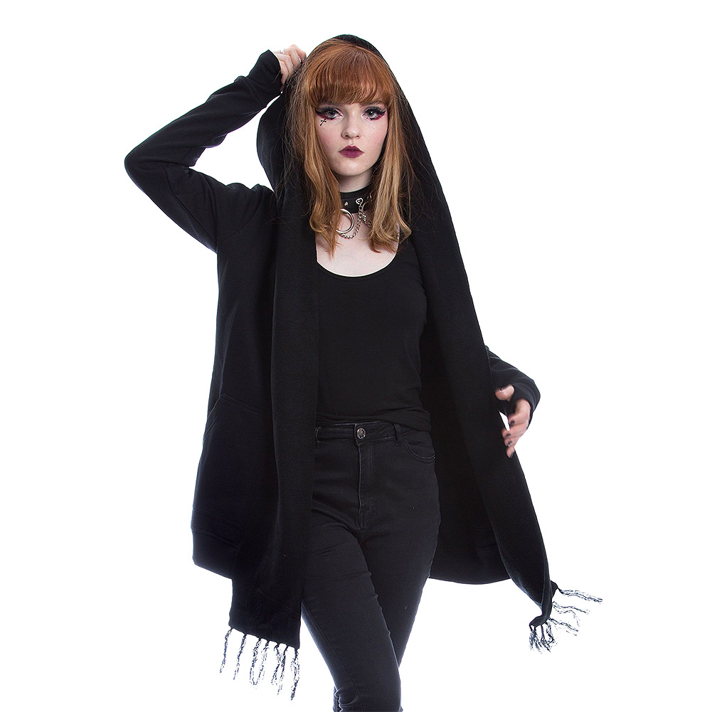 Heartless Adair Hooded Cardigan (Black)