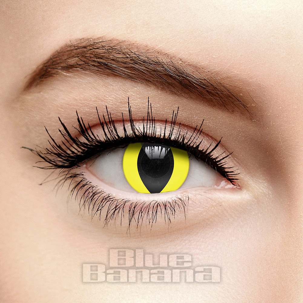 Cat Eye 90 Day Coloured Contact Lenses (Yellow)