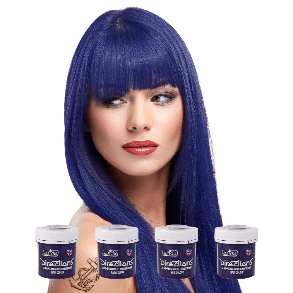 La Riche Directions Colour Hair Dye 4 Pack 88ml (Ultra Violet)