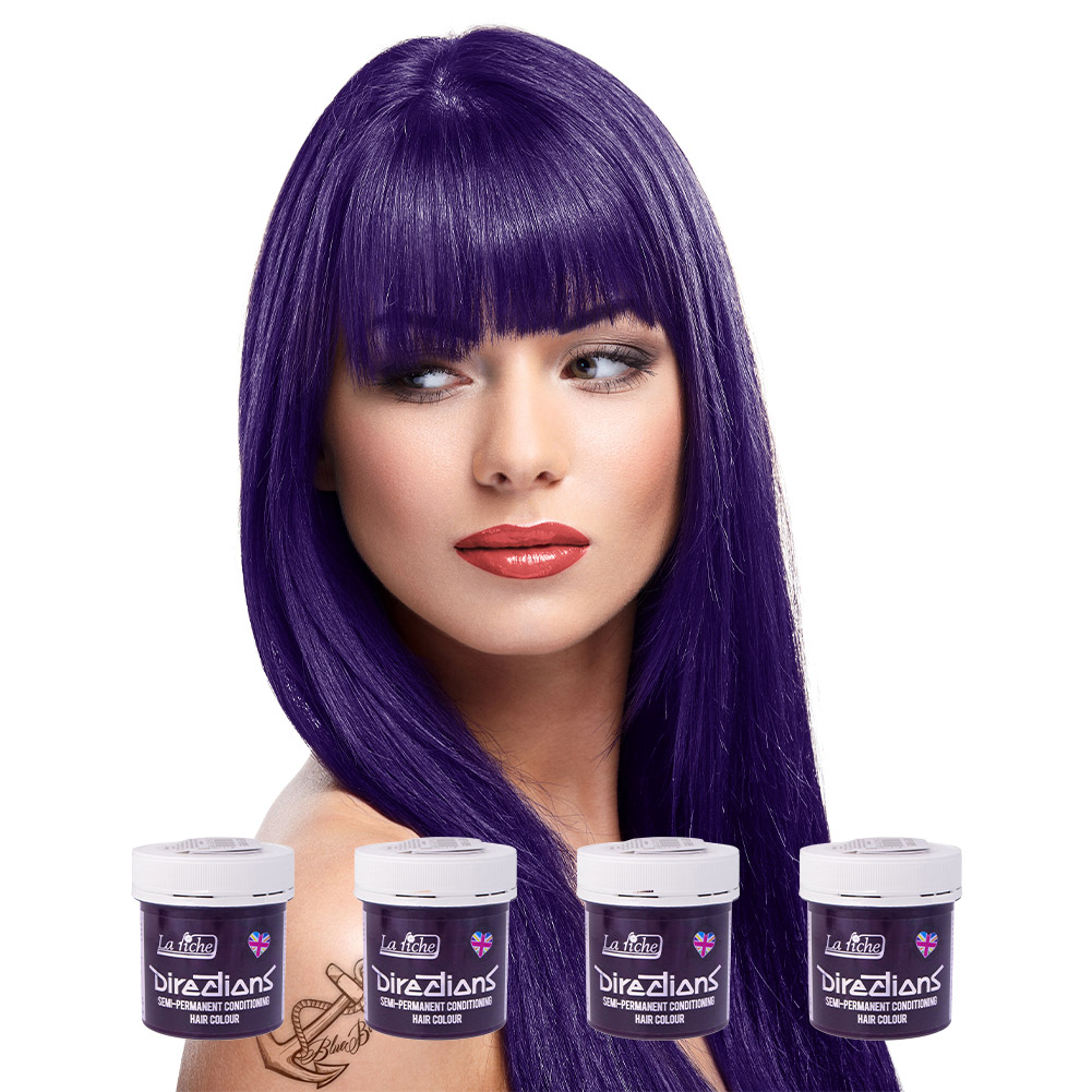 La Riche Directions Colour Hair Dye 4 Pack 88ml (Deep Purple)