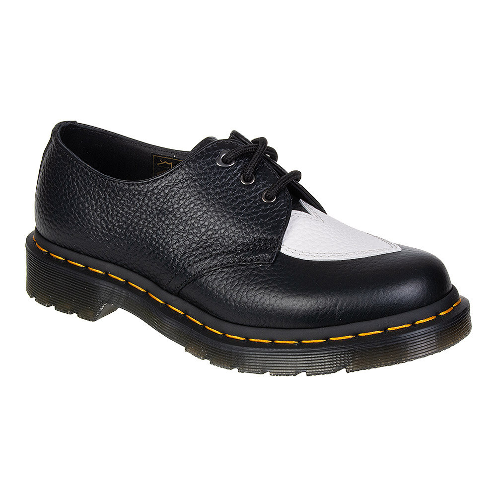 Dr Martens 1461 Amore Nappa Shoes (Black/White)