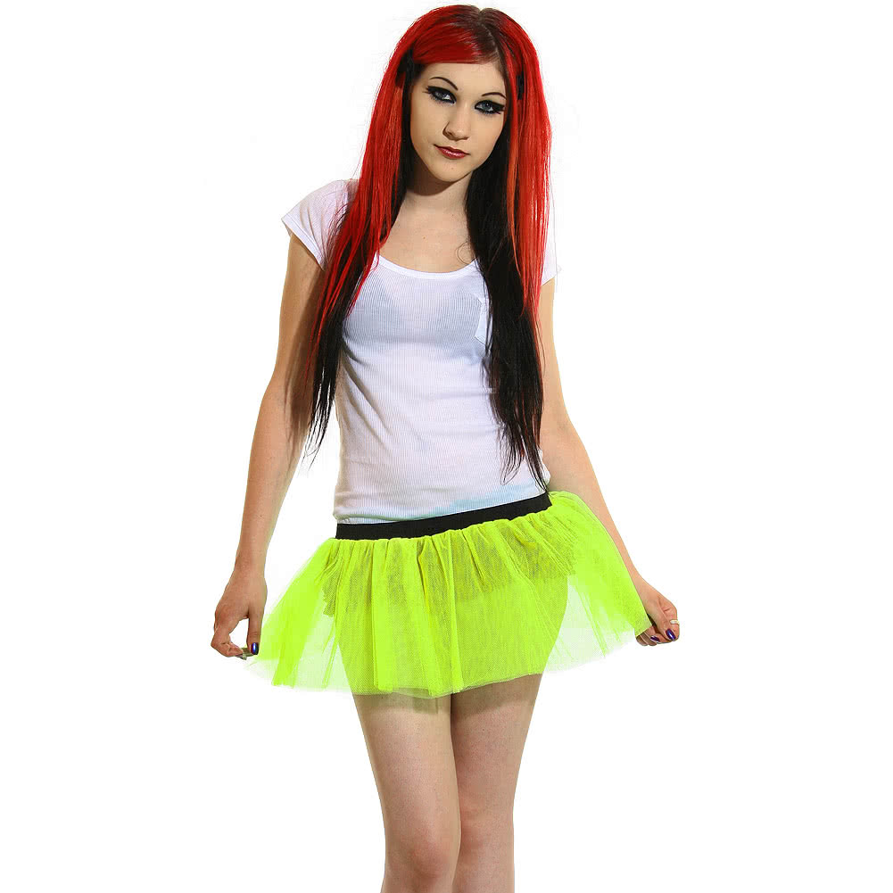 Insanity Neon Imp Tutu Skirt (Yellow)