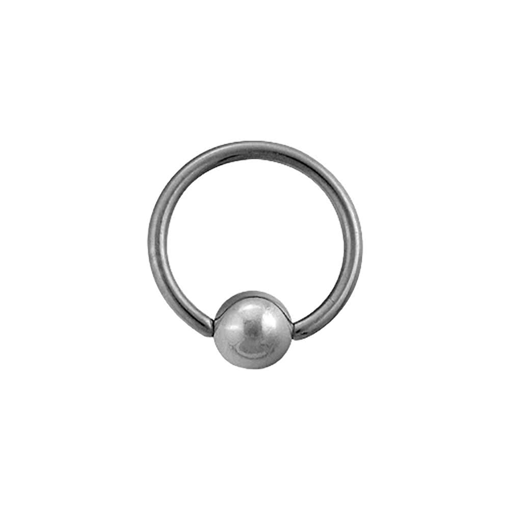 Blue Banana Polished Titanium 1.2mm BCR (Silver)
