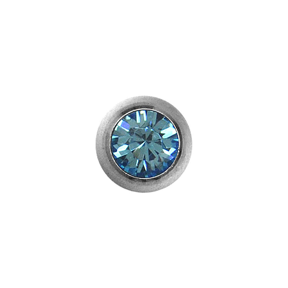 Blue Banana Polished Titanium 5mm Jewelled Ball (Aqua)