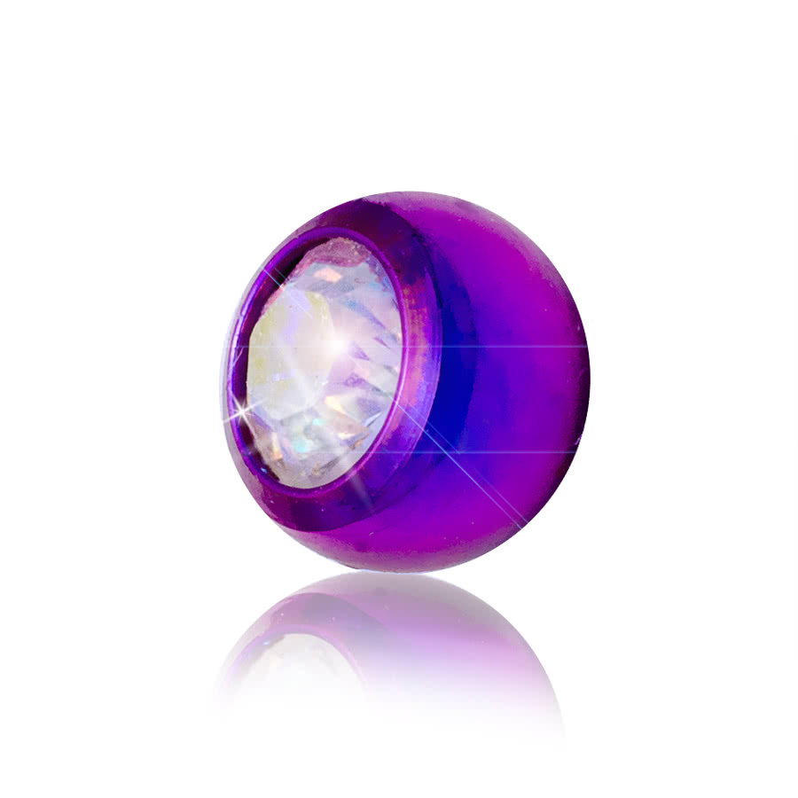 Blue Banana 5mm Coloured Jewel Ball (Purple/AB)