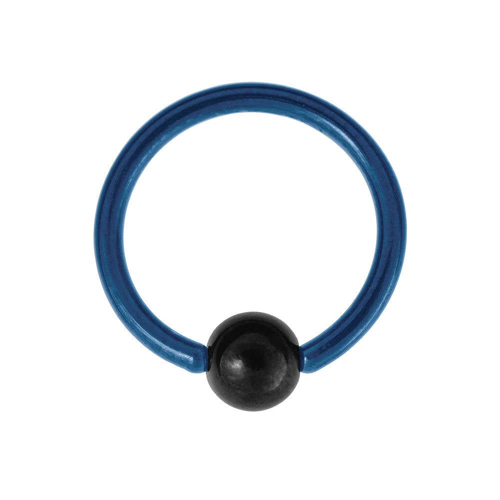 Blue Banana Coloured Titanium 1.2mm BCR (Blue)