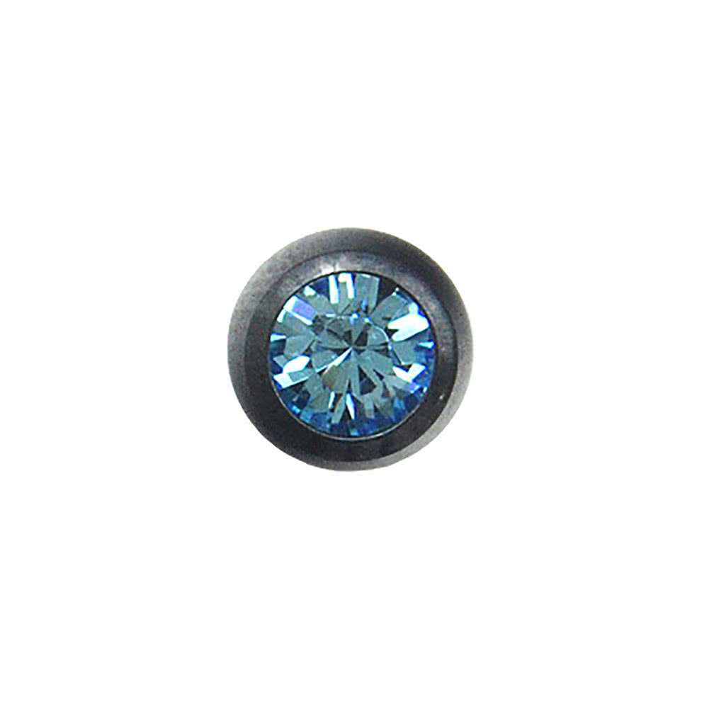 Blue Banana Black Titanium 3mm Jewelled Ball (Aqua)