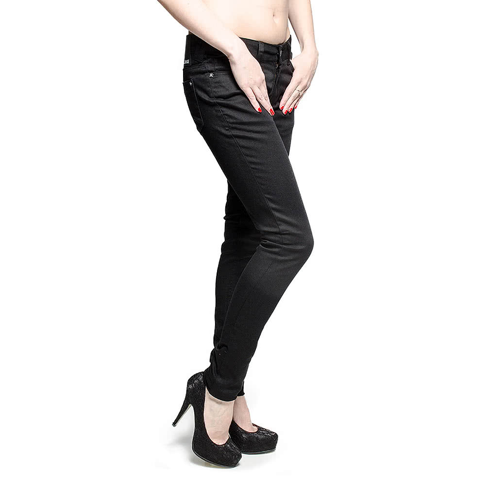 Criminal Damage Skinny Fit Jeans (Black)