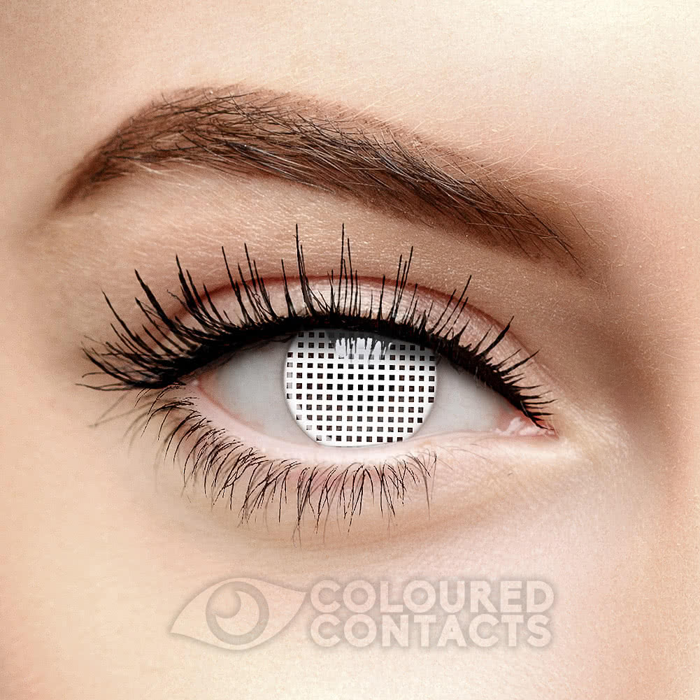 Mesh 90 Day Coloured Contact Lenses (White)