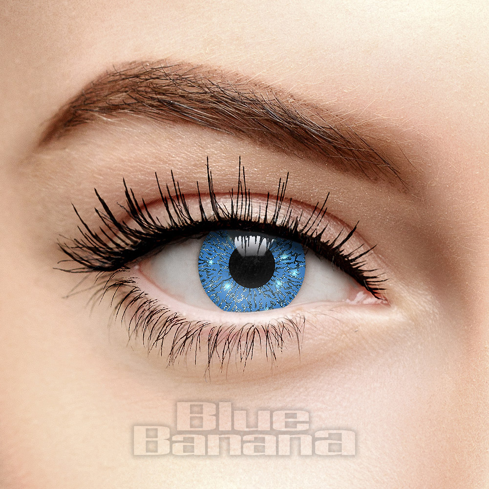 Glimmer 90 Day Coloured Contact Lenses (Blue)