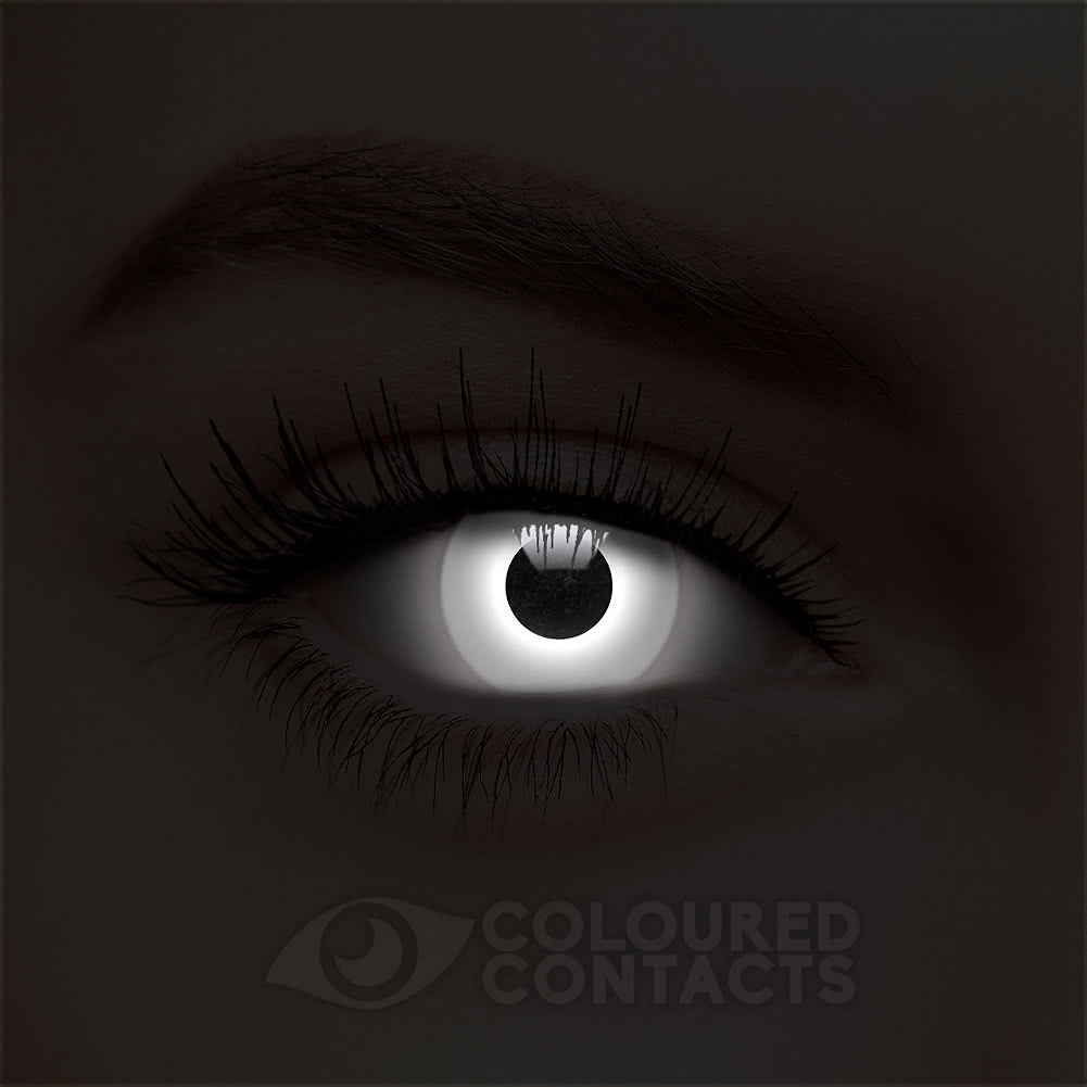 UV i-Glow 90 Day Coloured Contact Lenses (White)