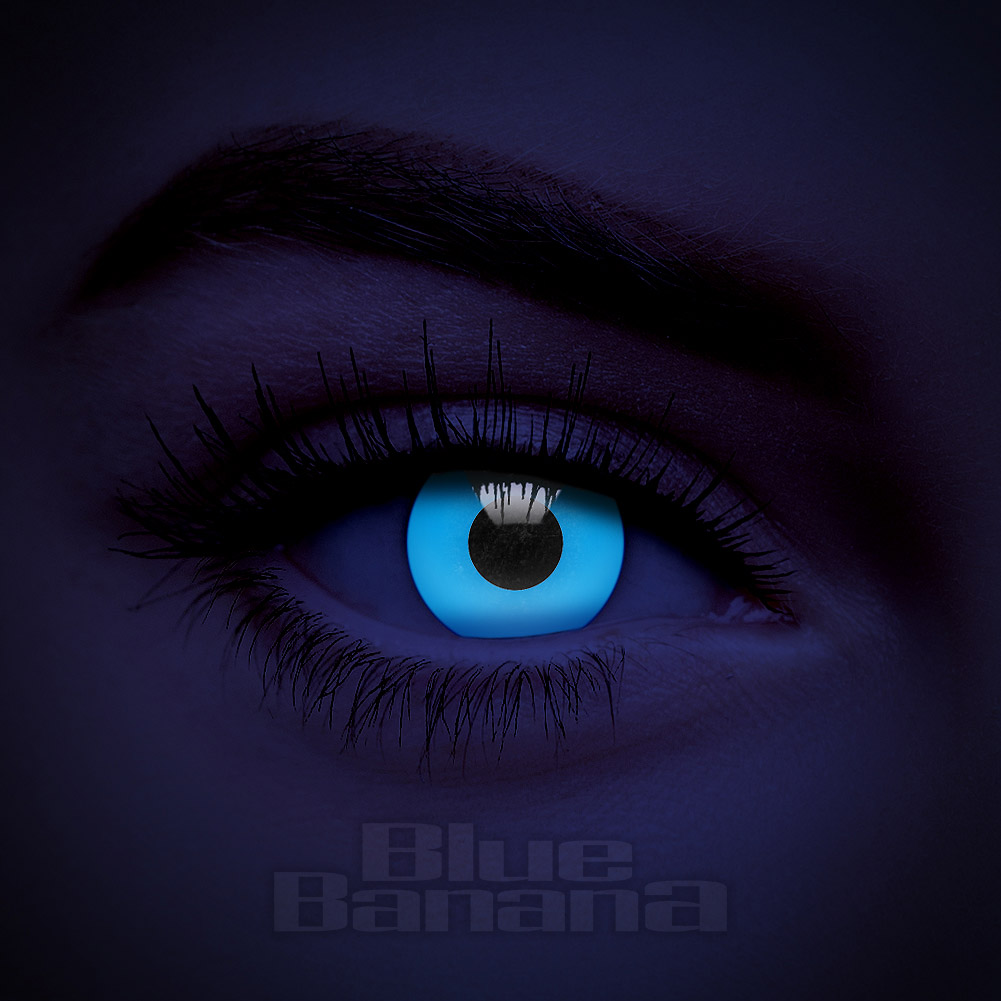 UV i-Glow 30 Day Coloured Contact Lenses (Blue)