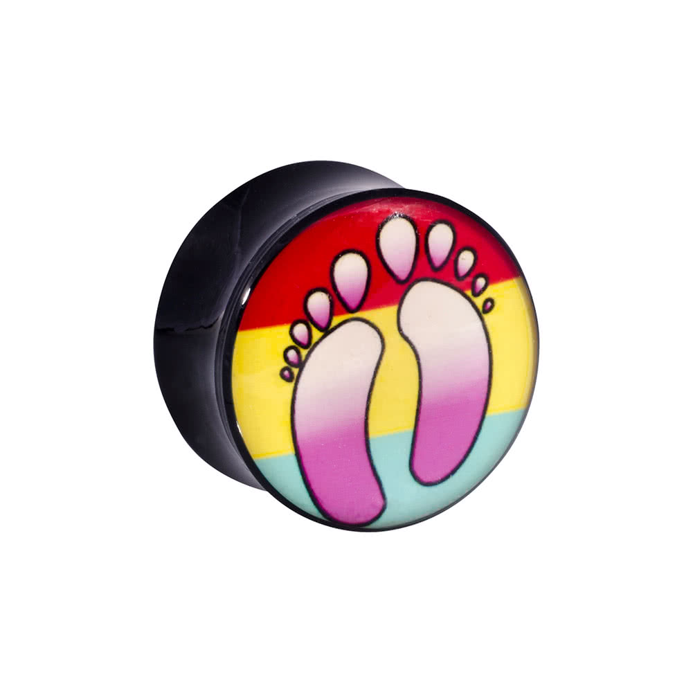 Ikon Acrylic Feet Plug 6-20mm (Multicoloured)