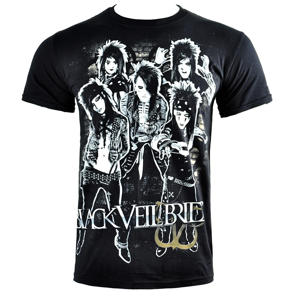 T Shirt Black Dei Black Veil Brides Shred (Nero)