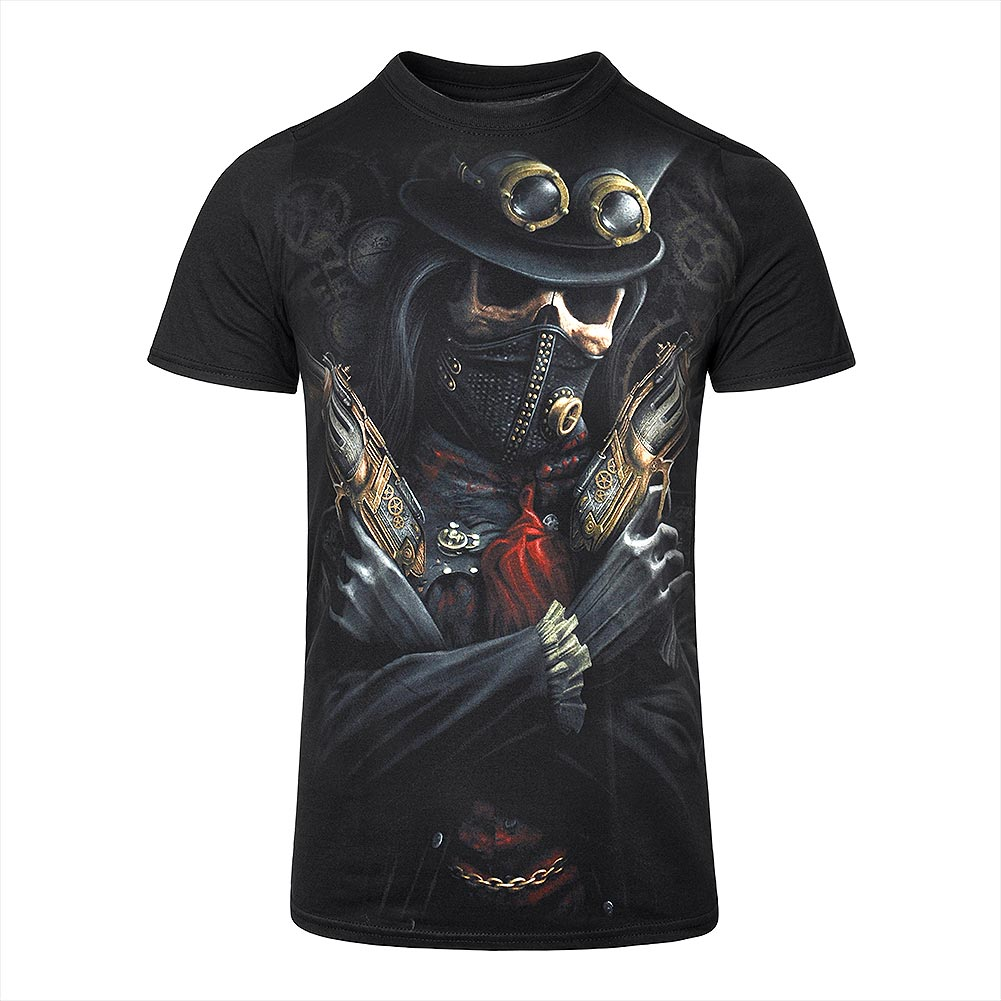 Spiral Direct Steampunk Bandit T Shirt (Schwarz)