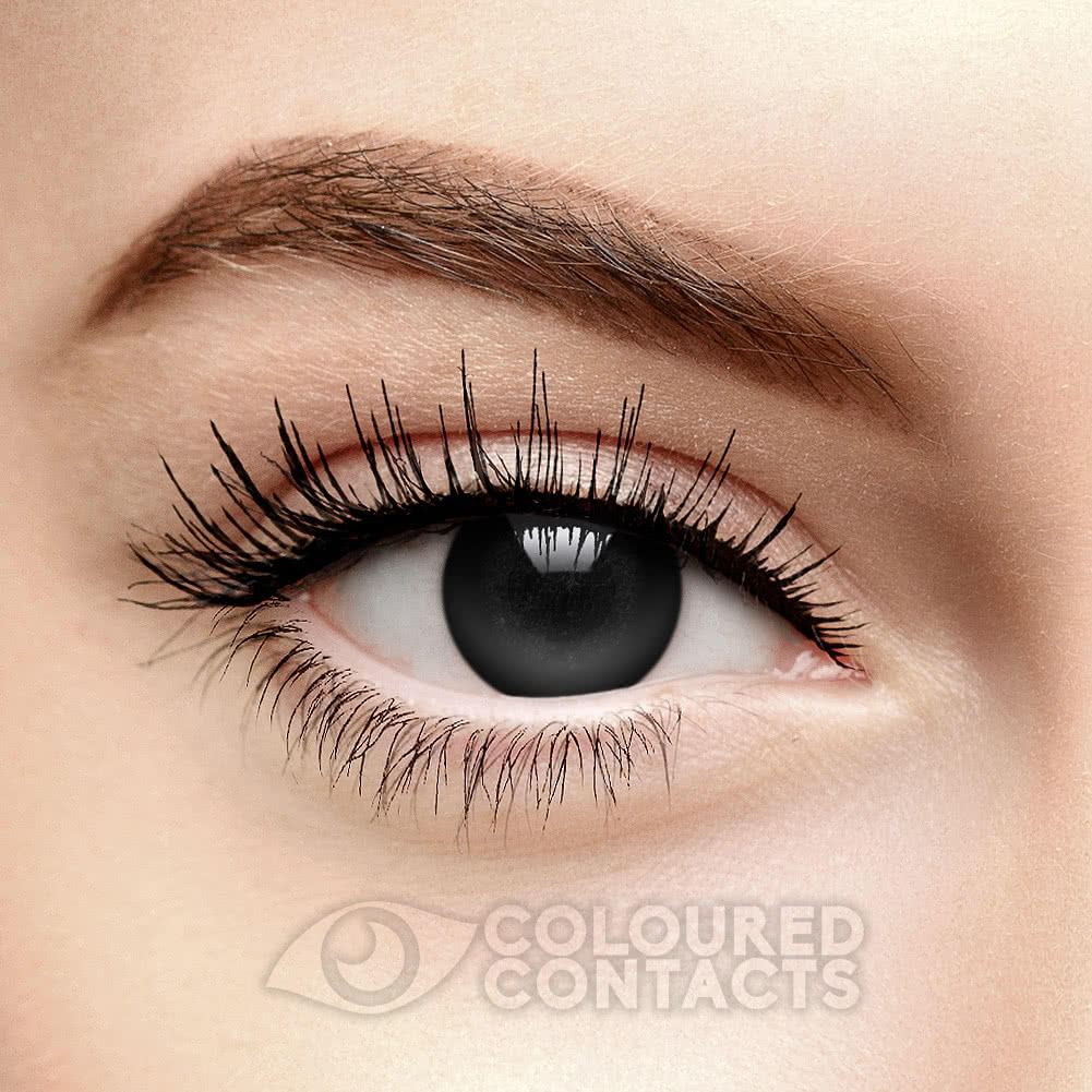 Blackout Halloween 1 Day Coloured Contact Lenses (Black)