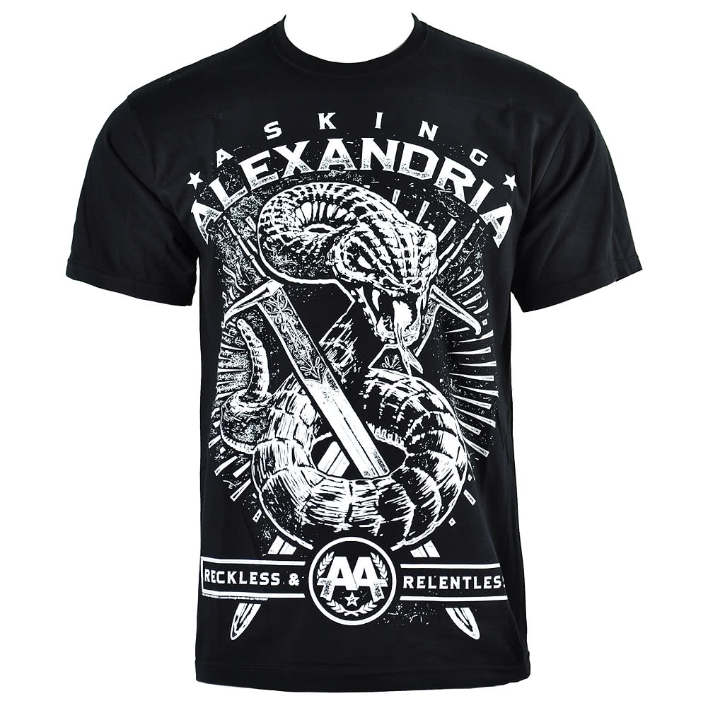 Official Asking Alexandria Snake T Shirt (Black)