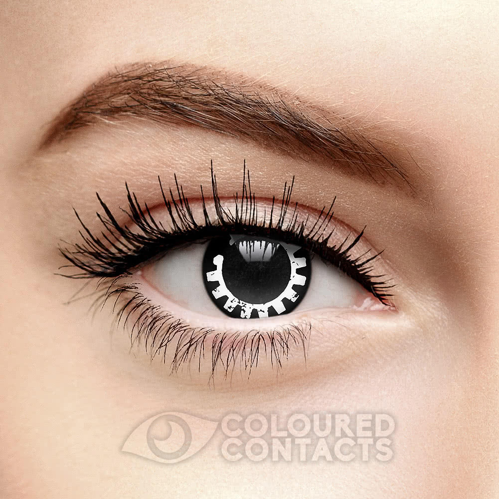 Steelyard 90 Day Coloured Contact Lenses (Black/White)