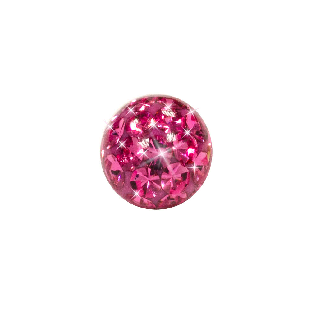 Blue Banana Surgical Steel 3mm Glitter Ball (Rose)