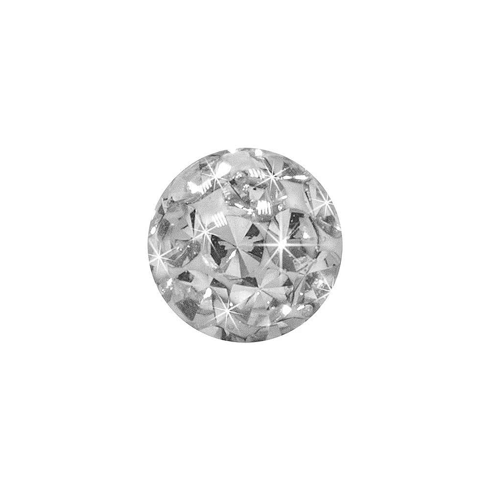 Blue Banana Surgical Steel 3mm Glitter Ball (Crystal)