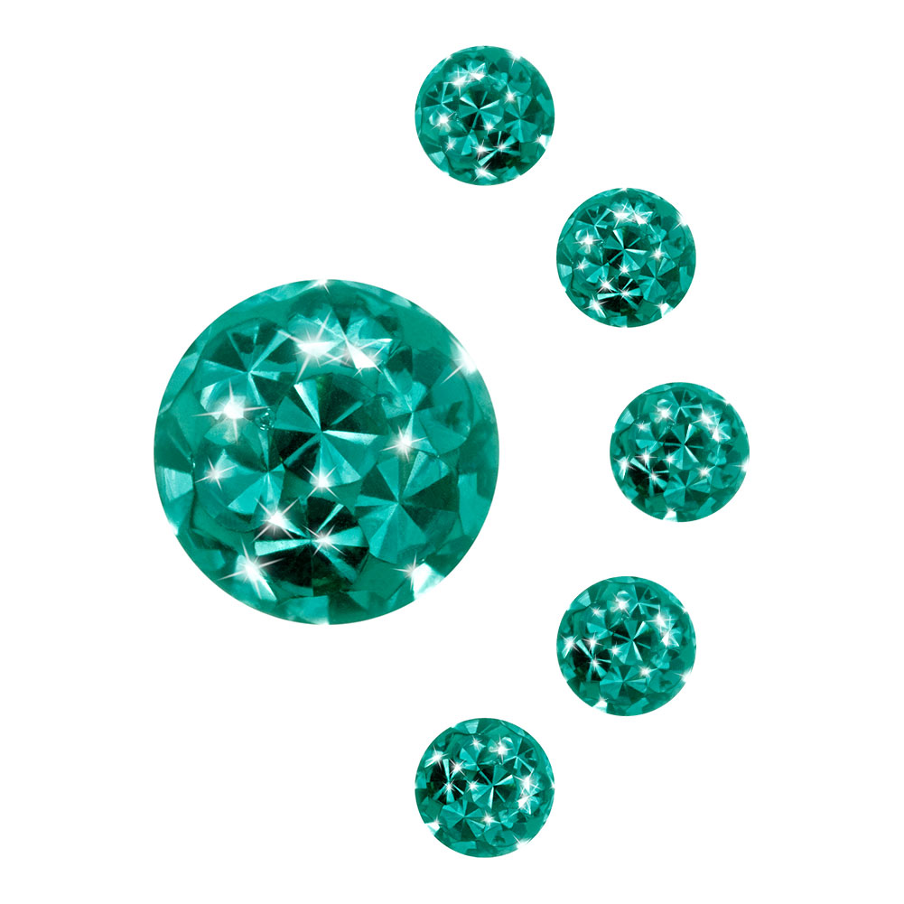 Blue Banana Surgical Steel 5mm Jewelled Glitter Ball (Zircon)